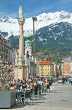 People enjoying a spring day in Innsbruck, Austria Stock Photo