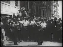 People enjoying street performance stock video footage