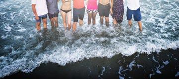 People Enjoying Summer Beach Concept Stock Photography
