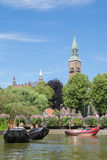 People enjoying summer day in Tivoli, Copenhagen, Denmark Royalty Free Stock Photos