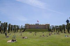 People enjoying Sunday afternoon in Frederiksberg park Stock Images