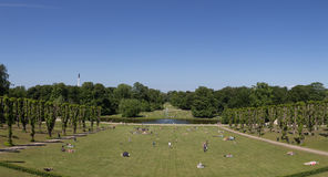 People enjoying Sunday afternoon in a park Royalty Free Stock Images