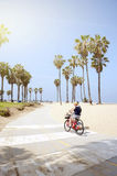 People enjoying a sunny day on the beach of Venice, California Royalty Free Stock Photo
