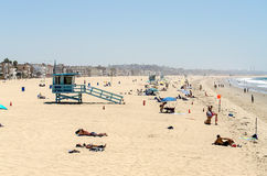People enjoying a sunny day in Venice Beach, California Royalty Free Stock Photos