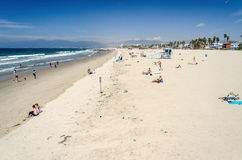People enjoying a sunny day in Venice Beach, California Royalty Free Stock Images