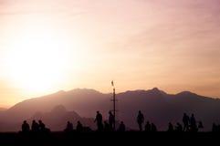 People enjoying sunset. Royalty Free Stock Images