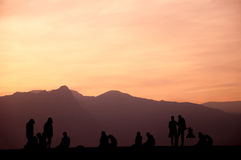 People enjoying sunset. Royalty Free Stock Photography