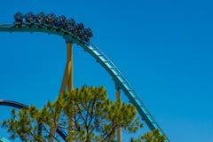 People enjoying terrific Kraken rollercoaster at Seaworld in International Drive area  1 royalty free stock images