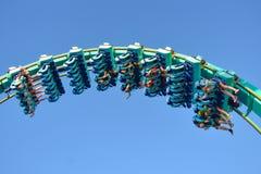 People enjoying terrific Kraken rollercoaster at Seaworld Theme Park 8