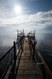 People enjoying view from dock Royalty Free Stock Photos