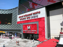 People enter and exit Planet Hollywood Hotel Miracle Mile shops Royalty Free Stock Images