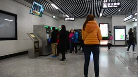 People enter subway station in Changsha, China. Changsha, the capital of central China's Hunan province, is a large city with a history dating to the Zhou stock video footage