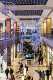 People enter to Metropolis shop before Christmas, Russia Royalty Free Stock Photography
