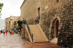 People entering at the citadel of Budva Stock Photography