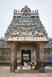 People entering hindu temple Royalty Free Stock Image