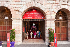 People at the Entrance of the Arena di Verona, Italy Stock Photo