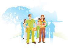 People for the environment, illustration Stock Photography