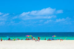 People enyoy the south beach Royalty Free Stock Photography