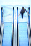 People in escalator Royalty Free Stock Photos