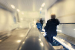 People on escalator Royalty Free Stock Image