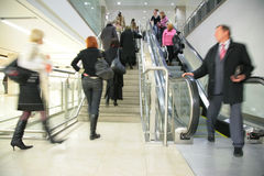 People on  escalator and ladder Royalty Free Stock Photos