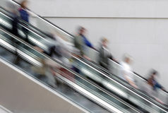 People on escalator Royalty Free Stock Images
