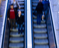 People on escalators Stock Photos