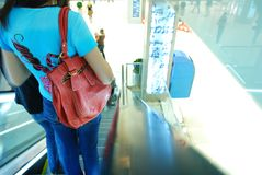 People in escalators Royalty Free Stock Photography