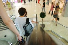 People in escalators Royalty Free Stock Images