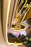 People on escalators Stock Photography
