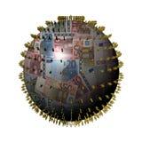 People on Euros sphere Stock Photos