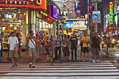 People in the evening in New york Stock Photography
