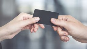 People are exchanging business card Stock Photos
