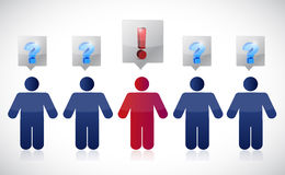People and exclamation illustration design Stock Image