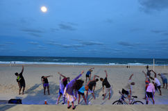 People exercise in Gold Coast Queensland Australia Stock Image