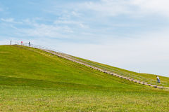 People Exercise at Mount Trashmore Park in Virginia Beach stock photography