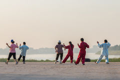People exercise  Tai Chi in morning Royalty Free Stock Photo