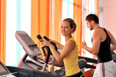 People exercising in the gym Stock Photo