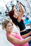 People exercising at the gym Royalty Free Stock Photos