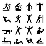 People exercising. For health and fitness Royalty Free Stock Photos
