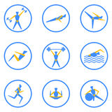 People exercising for health and fitness Stock Image