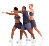 People exercising karate Royalty Free Stock Photos