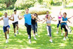 People exercising in the park Royalty Free Stock Image