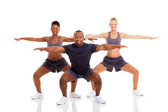People exercising stretching Stock Image