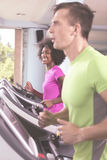 People exercisinng a cardio on treadmill Royalty Free Stock Photo