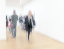 People at an exhibition Stock Image