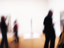 People at an exhibition Royalty Free Stock Photos