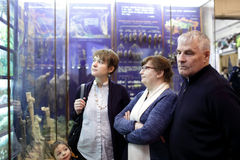 People at the exhibition Stock Image