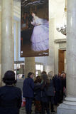 People in the exhibition of Pavel Fedotov Royalty Free Stock Photo