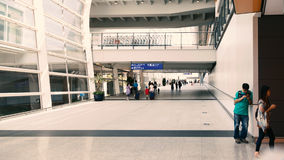 People exiting from airport Royalty Free Stock Photography